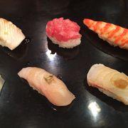 醤油をつけない創作寿司