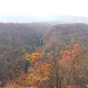 滝見台からは2段に見えます。