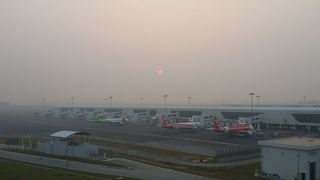 Airasiaで到着、乗り継ぎ