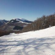交通の便がよい雪質のよいスキー場