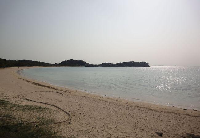 壱岐には何か所かビーチがあります。
