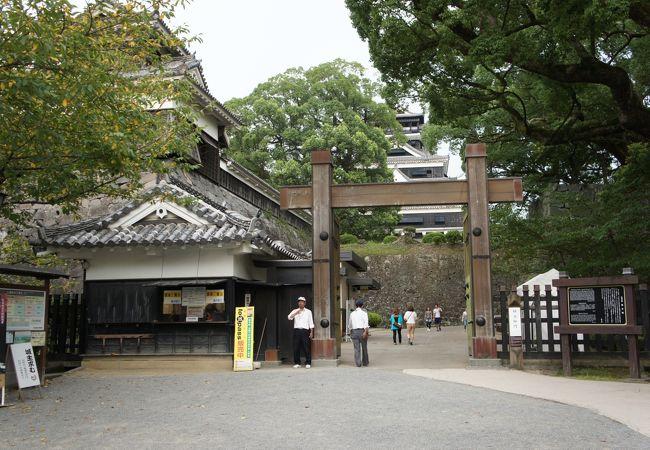 熊本城天守への最寄門