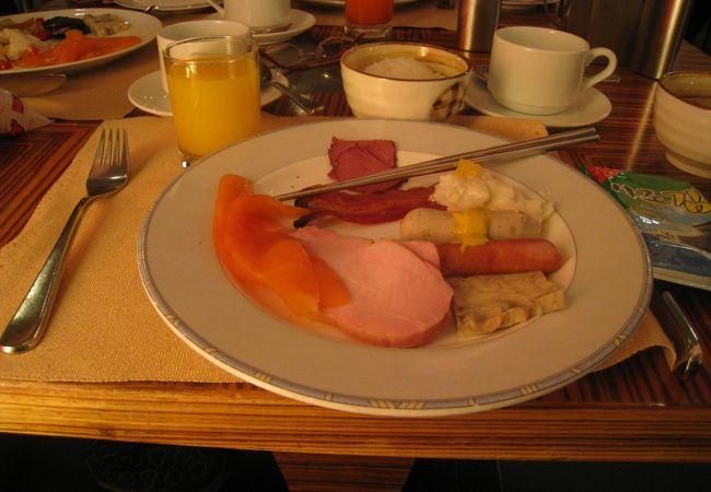 朝食で利用。