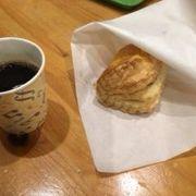 パイとコーヒーをいただいた