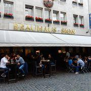 ケルシュビールの人気店。ロールキャベツもおすすめ