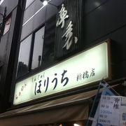 新橋駅南西のラーメン屋さん