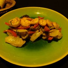温野菜とえび
