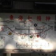旧東海道に沿った七福神です、正月は多くの人達が訪れます