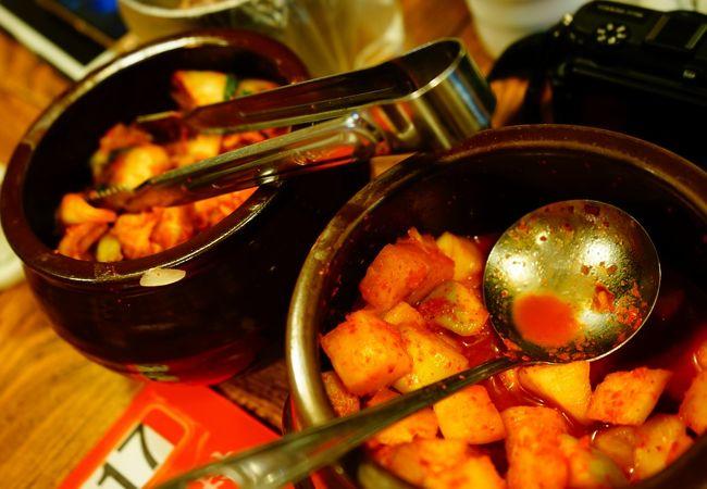 キムチは食べ放題です。味のリセットにいい!