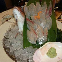 鯛の姿造り 1200円