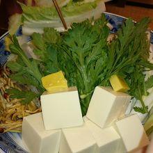 カニ鍋の野菜