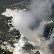 上空からイグアスの滝!