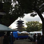 東寺 がらくた市