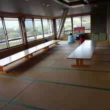 2階の休憩室。