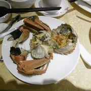 上海ガニを食べに