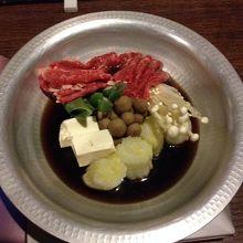 薩摩ビーフのすき鍋