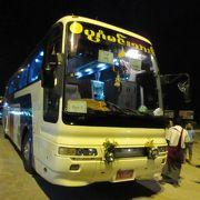 ヤンゴン−バガンの3列シ-トの夜行バス(BAGAN MINN THAR EXPRESS)
