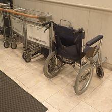 車椅子がありました。
