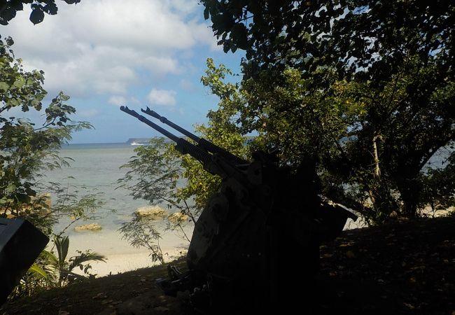 こんなきれいな海が戦場だったとは・・・