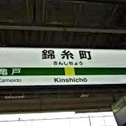 昔から下町で一番の繁華街にある便利な駅でした。地下鉄半蔵門線が全線開通してさらに便利になりました。