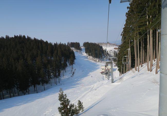 結構難しいスキー場