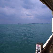 萩八景遊覧船から見た日本海です。