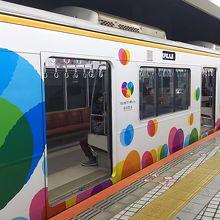 阪神電車のラッピング電車