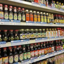 日本の醤油、ソース類