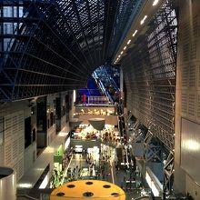 京都駅構内を上から。