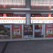 大阪のターミナルのひとつ
