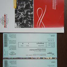 チケットとプログラムです。