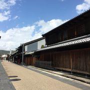 長良川近くの古い街並み