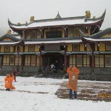 黄龍後寺、チベット仏教のお寺です。
