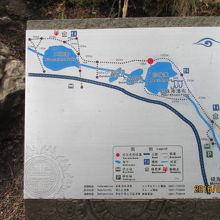 珍珠灘周辺地図。