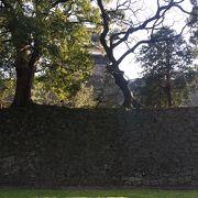 反り上がる石垣