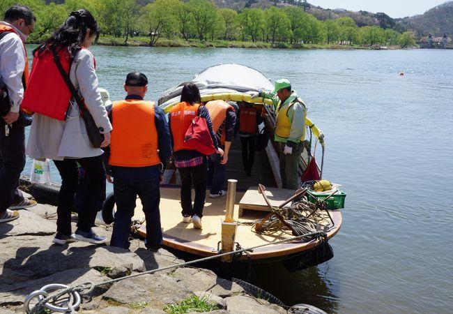 北上川の渡し舟