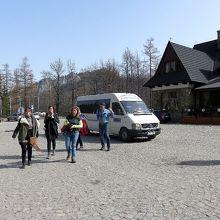 大カスプロヴィ山のロープウェイ