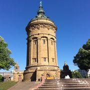 マンハイムの観光名所の給水塔があります。