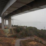 しまなみ海道サイクリングの起点であり終点の橋が架かる海峡