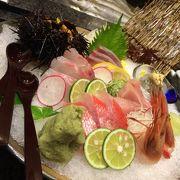 新鮮な魚が並んでいます