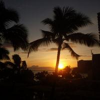 海に沈む夕日がきれい