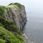 足がすくむほどの断崖