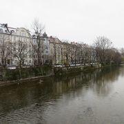 ミュンヘン市街地の東を流れる川