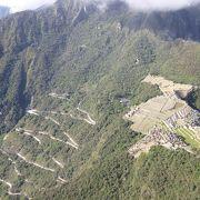 ワイナピチュ山頂から見下ろすマチュピチュ遺跡全貌は、まさに絶景。