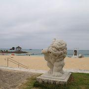 恩納村のパブリックビーチ