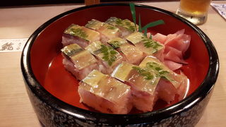 上品な鯖寿司