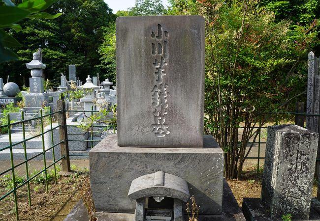 小川芋銭の墓
