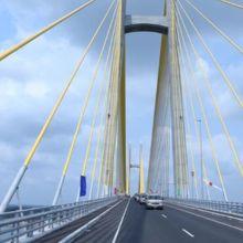 メコン川のニックレインのつばさ橋です。
