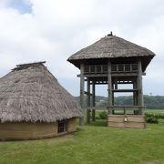 広い敷地に弥生の遺跡が整然と復元されていた