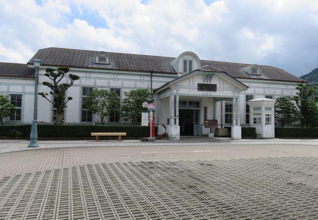 萩駅の正面
